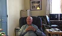Thumbnail of Lefty Kreh sitting in his living room.