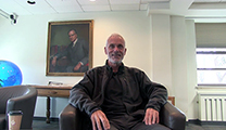 Thumbnail of Jeremy Wade sitting in the Montana State University Merrill G. Burlingame Special Collections Reading Room.