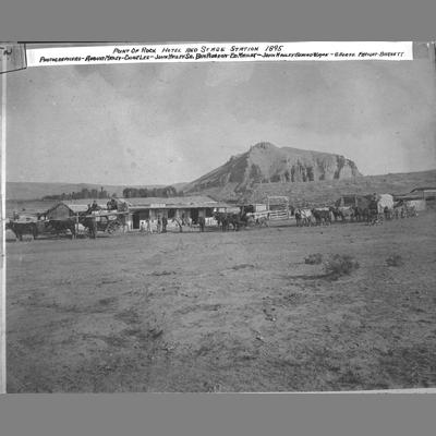 Point of Rock Hotel and Stage Station, Beaverhead County, 1895