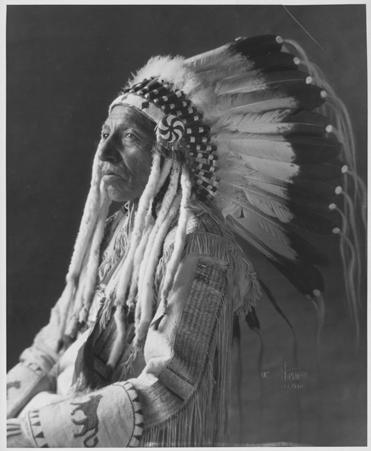 Chief Shot on Both Sides, Blackfoot Siksika, Canada