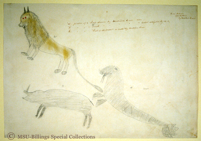 Great Plains Ledger Drawings : Crow indian illustrations peoples digital image