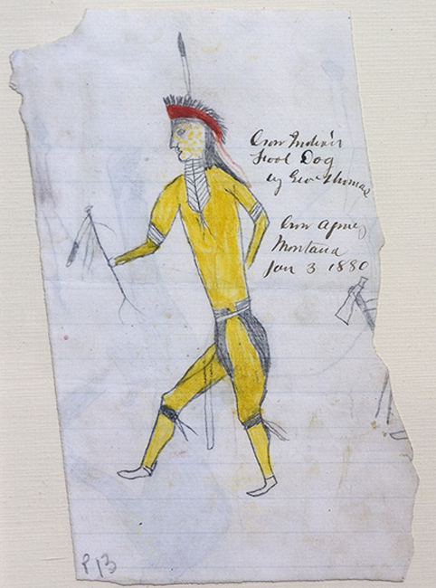 Great Plains Ledger Drawings : Crow indian fool dog peoples digital image