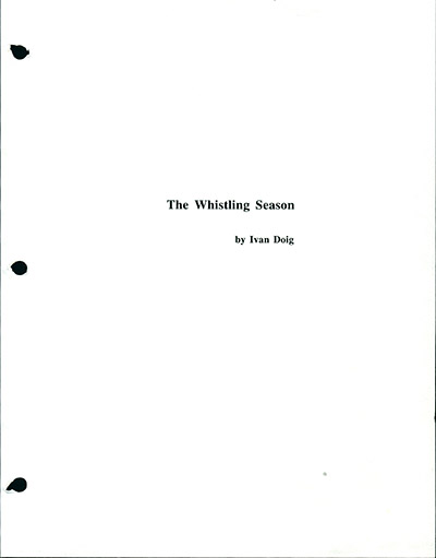 The Whistling Season - final editing with corrections May 2005
