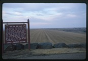 Fort Peck dam and lake sign 1