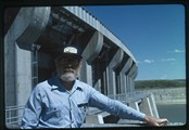 Ivan Doig at spillway in Fort Peck, Montana