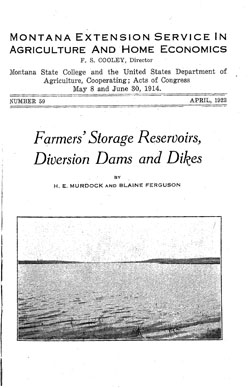 Farmers' Storage Reservoirs, Diversion Dams and Dikes