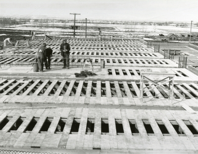 Men Working on the Construction of Romney Gymnasium