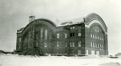 Construction of Romney Gym, 1922