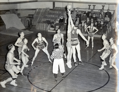 Basketball Game in Romney Gym Montana State vs. Brigham Young
