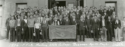 Future Farmers of America convention at Montana State College, 1936