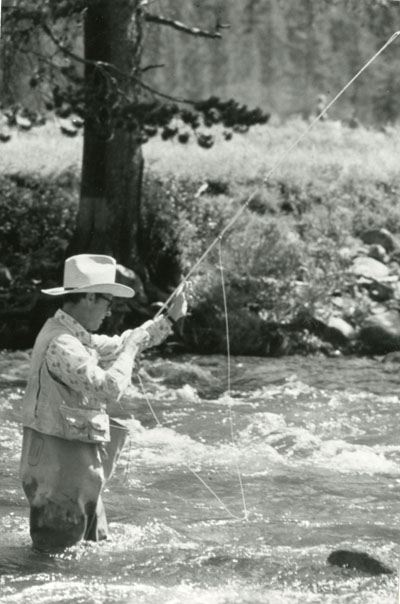 Man flyfishing on the Gallatin River, part of the Gallatin Canyon Study Photos