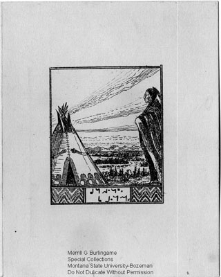 Hand Drawn Christmas Card from Mr. and Mrs. George H. Goodham from Gleichen, Alberta