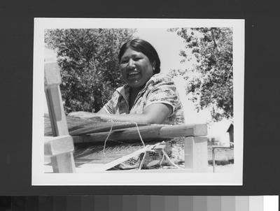 Laura Buckman, An Arapaho Woman, Weaving, 1945